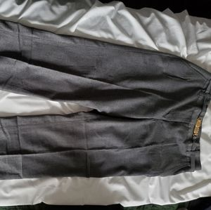 Heritage fully lined, belted grey wool pants